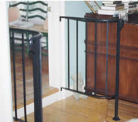 Interior room transition railing
