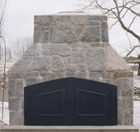 outdoor fireplace barbaque doors