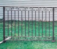 Balcony Railing with scroll borders