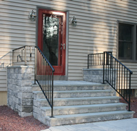house railing with kneewall side rails